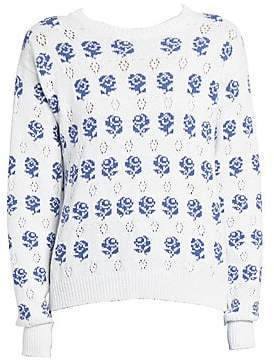 Kenzo Women's Rose Jacquard Sweater