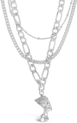 Sterling Forever Layered Pharaoh Pendant Necklace