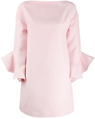Valentino Ruffled Sleeve Mini Dress