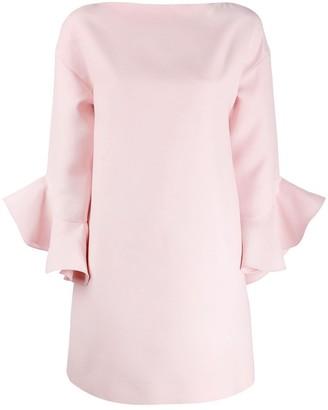 Valentino ruffled sleeve mini dress