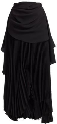 A.W.A.K.E. Mode High-Waist Pleated Maxi Skirt