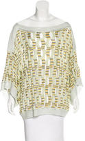 Missoni Striped Open Knit Top