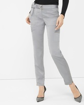 White House Black Market Silver Lux Cargo Slim Ankle Pant