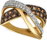 LeVian Le Vian Chocolatier Diamond Crisscross Ring (1-1/8 ct. t.w.) in 14k Gold