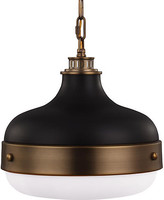 Feiss Cadence Pendant - Antiqued Brass