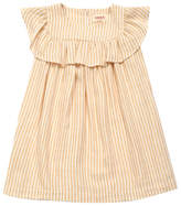 MAAN Casa Ruffled Lurex Stripe Dress