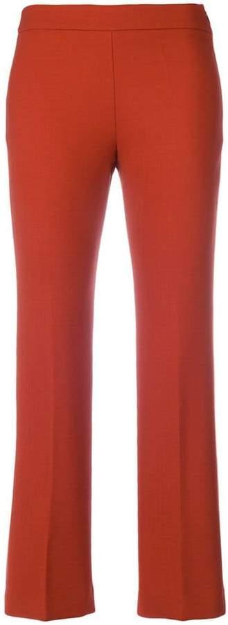 Incotex cropped straight leg trousers