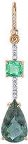 Irene Neuwirth Emerald, Tourmaline and Diamond Single Drop Earring