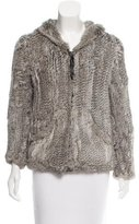 Issa Knitted Fur Jacket