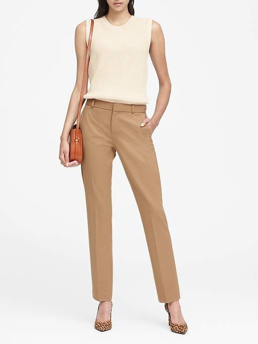 Petite Ryan Slim Straight-Fit Washable Pant