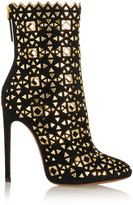 Alaia Embellished suede boots