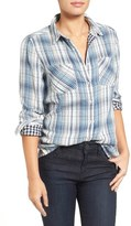Caslon Classic Plaid Shirt (Regular & Petite)