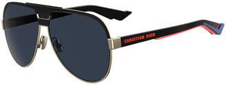 Christian Dior Men's DiorForerunner Multilayer Aviator Sunglasses