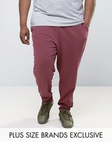Puma PLUS Cropped Joggers In Burgundy Exclusive To ASOS 57530801