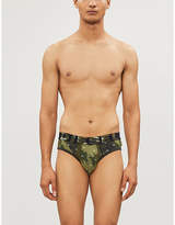 Diesel Andre camouflage-print classic-fit stretch-cotton briefs