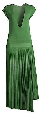 Agnona Women's Silk & Cotton Pleated Dress