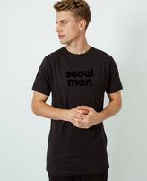 A Question Of Seoul Man Crew Neck T-Shirt Black