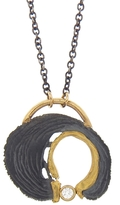 Jamie Joseph Oxidized Sterling Woodcut Joinery Horseshoe Necklace