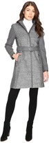 Vince Camuto Belted Mixed Media Wool Jacket L1151