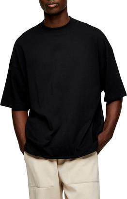 Topman Oversize Mock Neck T-Shirt