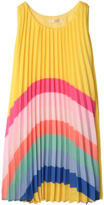 Billieblush Girl's Pleated Rainbow Sleeveless Shift Dress, Size 4-12