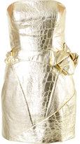 Rubin Singer crocodile effect bustier dress