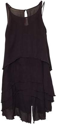 Karl Lagerfeld Paris Pour H&M Pour H&m Brown Silk Dress for Women