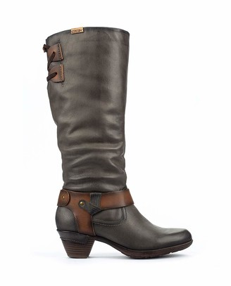 PIKOLINOS Leather Knee High Boots Rotterdam 902 Grey