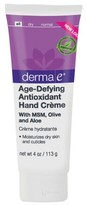Derma E Age-Defying Hand Creme with MSM, Green Tea, Olive, Aloe and Vitamin E