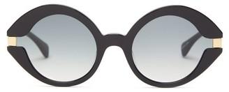KALEOS Moran Round Acetate Sunglasses - Black