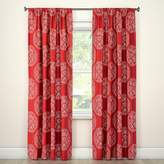 Threshold Tile Medallion Curtain Panel Red