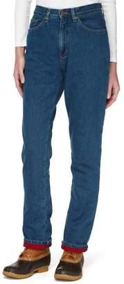 L.L. Bean L.L.Bean Double LA Jeans, Relaxed Fleece-Lined