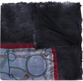Avant Toi baroque printed scarf