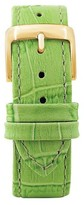 Speidel Leather with Alligator Pattern Replacement Watchband Fits 18mm - Green