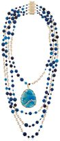 Rosantica Amuleto Blue Quartz & Agate Necklace