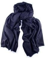 Black Navy Blue Cashmere Shawl
