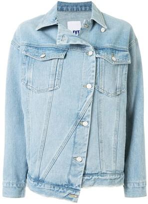 Sjyp Asymmetric Denim Jacket