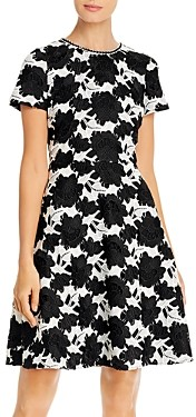 Karl Lagerfeld Paris Floral Fit and Flare Dress