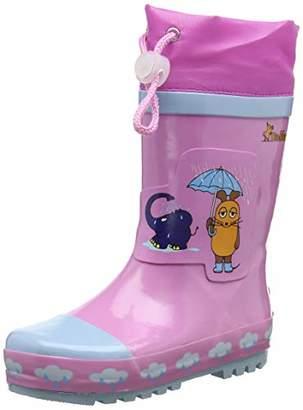 Playshoes Unisex Kids' Girls Wellies Mouse & Elephant Wellington Boots, Pink (Lightpink 14), 28/29 EU