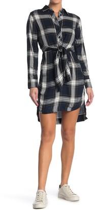 Tommy Hilfiger Plaid Tie Front Shirt Dress
