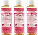 Dr. Bronner's - Dr Bronner - Rose Castile Liquid Soap | 472ml | BUNDLE