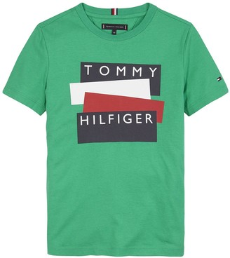 Tommy Hilfiger Boys Short Sleeve Sticker Logo T-shirt