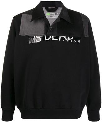 Diesel Upcycled Denim Collar Sweater
