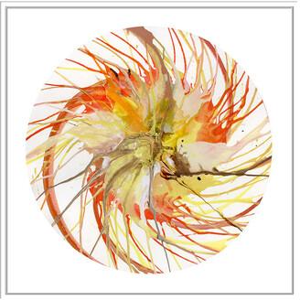 Jonathan Bass Studio Spin Art 6, Decorative Framed Hand Embellished Canvas