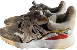 Alexander McQueen Silver Leather Trainers