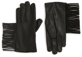 Maison Scotch Fringe Thinsulate(R) Insulated Leather Gloves