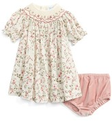 Luli & Me Infant Girl's Floral Print Plumetis Bishop Dress