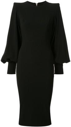 Alex Perry Blunt bishop-sleeves dress