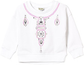 Kenzo White Embroidered and Jewelled Necklace Sweatshirt