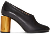 Acne Studios Black and Brass Amy Heels